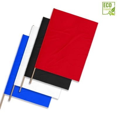 Plastic film flags ECO (upright format)