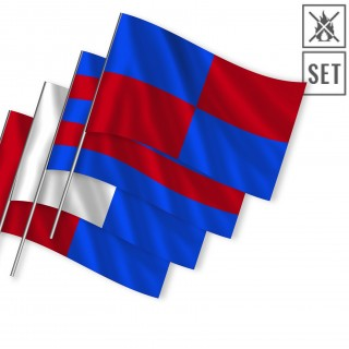 Hand flags according to a given sample 100x100cm flame retardant