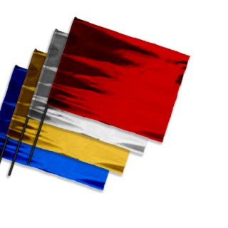 Plastic film flags horizontal format