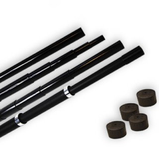 Telescopic flag poles
