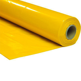 Plastic film roll standard 1,5x100m - yellow