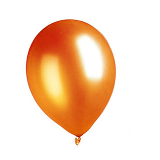 Metallic Luftballon Orange